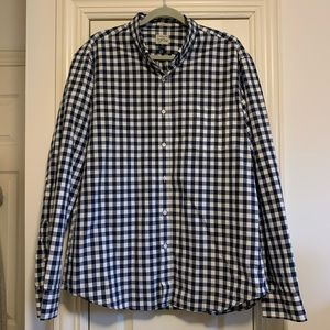 J. Crew Gingham Check Button Down
